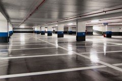 an empty parking garage